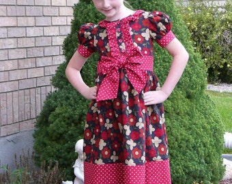 Tween's Classic Ruffle Dress or Shirt, PDF Sewing Pattern, Sizes 10-16