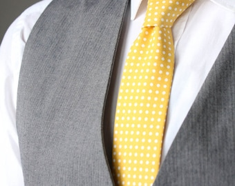 Mens Tie TC065 Light yellow 100% Cotton Men's necktie Boom Bow Wedding tie