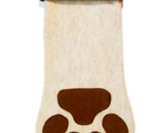 DOG   stocking with FREE embroidered name