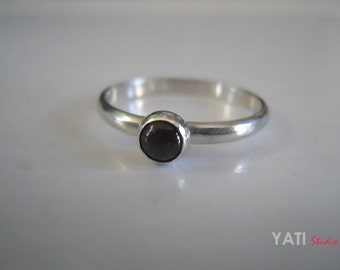 Sterling Silver Ring, Moonstone Ring, Good luck Ring