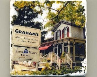 Graham's in Geneva Illinois -  Original Coaster