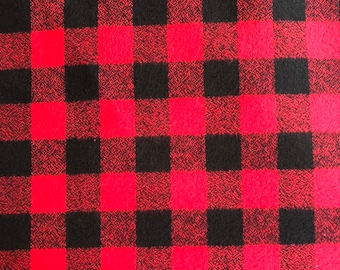 Mammoth Flannel Red Watch Plaid by Robert Kaufman
