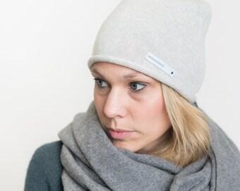 nice Merino beanie - light grey