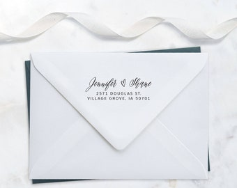 Return Address Stamp Personalized Wedding Invitation Stamp Personalized Shower Gift Housewarming Gift for Her Address Plaque RSVP Stamp