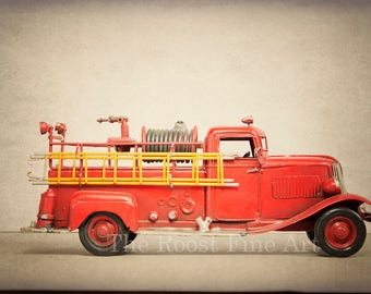 Fire Truck Boys Room Decor Fine Art Photography
