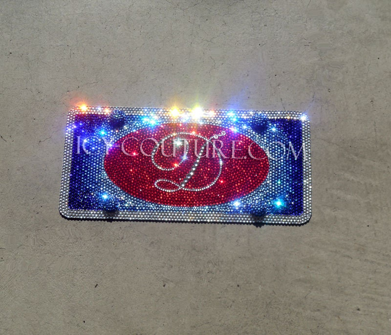 Custom Swarovski BLING Front Vanity License PLATE
