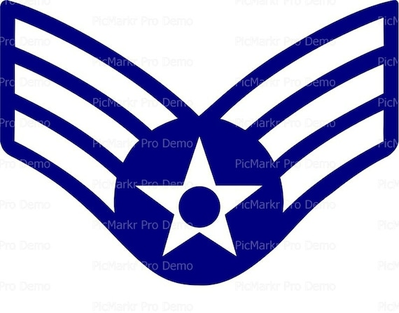 Air Force Senior Airman Insignia Birthday - Edible Cake and Cupcake Topper For Birthday's and Parties! - D20439