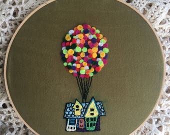 Pixar's UP Embroidery