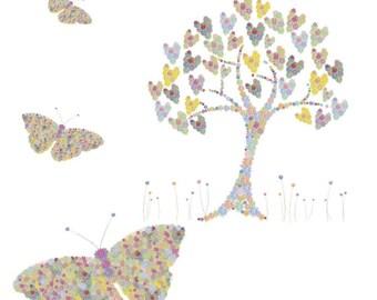 Butterflies & Hearts Card