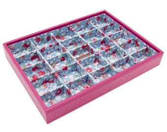 Stackers Medium Hot Pink Stacker Jewellery Tray -Small Sections LC70585