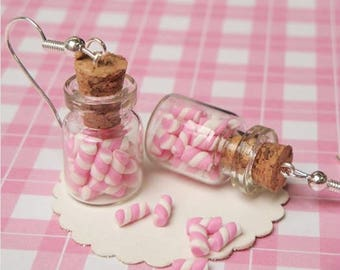 Marshmallows Jar Earrings