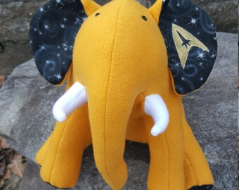 "STAR TREK- Gold Plush Elephant - ""Command"""
