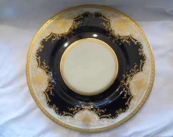 Gilded Porcelain Charger by Black Knight