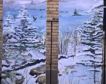 samples of  custom painting options coffee machine, closet door, outdoor screens
