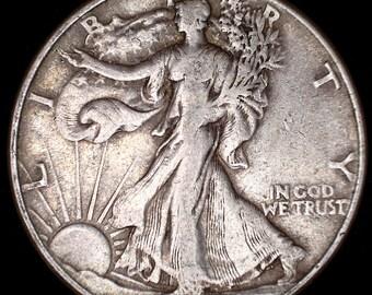 1916-1947 Walking Liberty Half Dollar 90% Silver