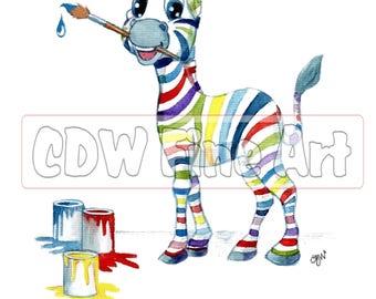 Personalised Multi Colour Zebra Print