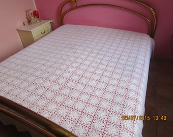 Egyptian cotton crochet bedspread
