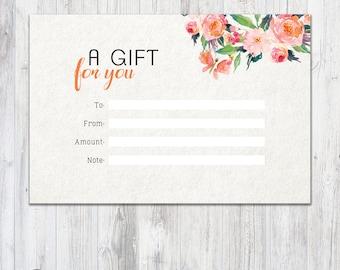 LipSense Gift Certificate - LipSense - SeneGence Gift Certificate - LipSense Distributor - Digital Download - Gift Certificate - Watercolor
