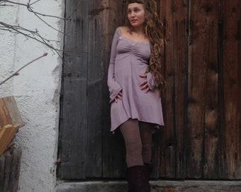 Mauve lilac spring dress