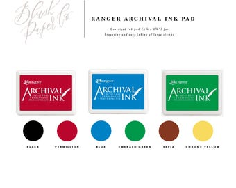 Ranger Archival Ink Stamp Pads, Ink Pad, Oversized Ink Pad, Rubber Stamp Ink, Stamp Pad, Large Ink Pad