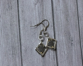 Framed Hearts Earrings, Free Shipping!
