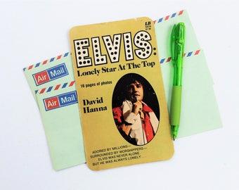 Elvis, Up-cycled paperback book postcard