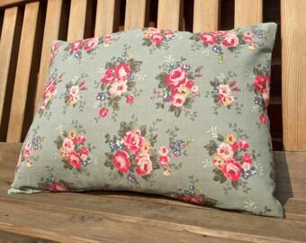 Cath Kidston green floral fabric cushion