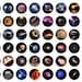 48 one inch round images - Space - Set 1