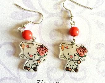 Romantic cats earrings