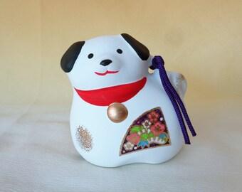"RJ111:Akita dog Dorei bell,Japanese Akita-inu dog ""Dorei"" bell/figurine,made in Japan"
