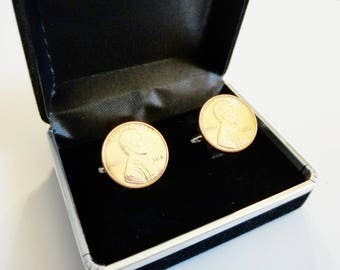 1983 35th Birthday Anniversary Retirement For Him Penny Cuff links Coin Cufflinks Present