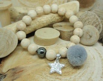 """Le bracelet """"Cosy"""" gris"""