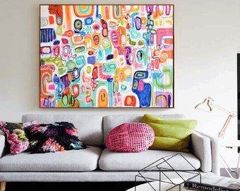 "60""x40""multicolor abstract painting Painting  ,oil painting,by   Jolina Anthony"