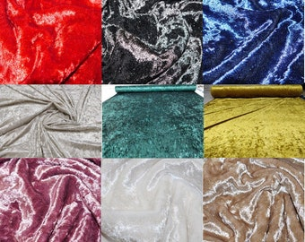 Premium Crushed Velour Velvet Upholstery,Sofa,Furniture,Curtain,Blinds Fabric ,Cushions, Dresses