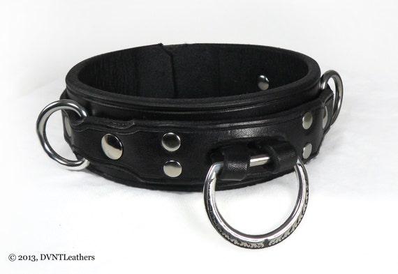 Leather collars bdsm deerskin