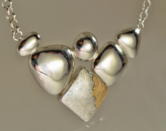 """Necklace in silver and rose gold """"Tramonti (Sunsets)"""" n. 1"""