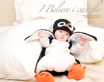 Baby Penguin Costume - Penguin Costume - Kid's Costume - Child's Halloween Costume - Infant Halloween Costume - Baby Halloween Costume