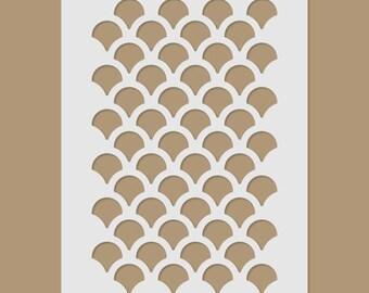 Fish Scale/Scallop Stencil