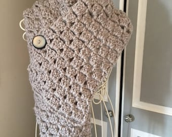 Gorgeous Hand Crocheted Scarf/Wrap -   Ideal Gifts For Her