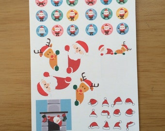 Christmas sticker set for Erin Condren, Plum Paper, Filofax, Kikki K (DPD058)