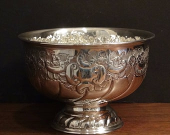 Silver Plated Bowl - Hand Chased - Viners of Sheffield England