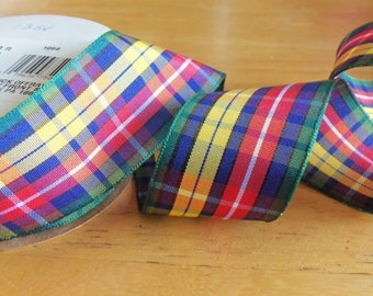 1 1/2 Inch Classic Buchanan Tartan Plaid Ribbon - 3-Yard Roll