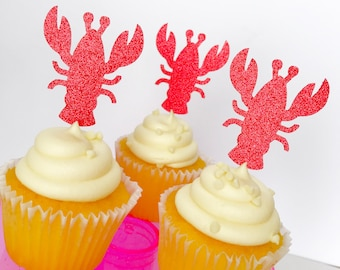 Lobster Cupcake Toppers | Cupcake Toppers | Summer Birthday Party | Nautical Birthday Party | Birthday Party | Cupcakes | Lobster Bake