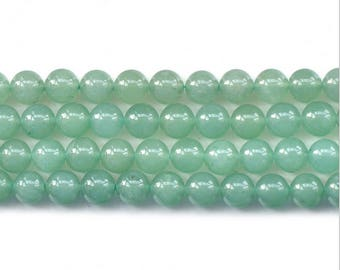 Green aventurine round ball loose gemstone beads strand 16'' 4mm 6mm 8mm 10mm 12mm