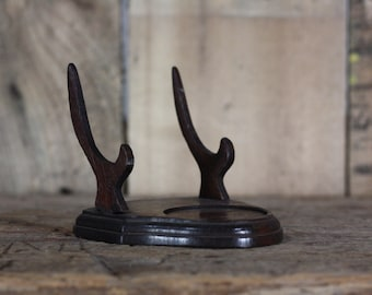 Vintage Wooded Display Easel and candle holder