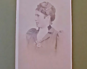 Victorian Sepia Toned Photograph of Young German Lady From Freiburg