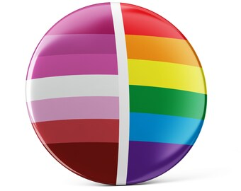 Lesbian Pride pin button, Lesbian pin button, Lesbian pin, colorful pin badge, cool bag decoration, Lesbian decoration, gay flag
