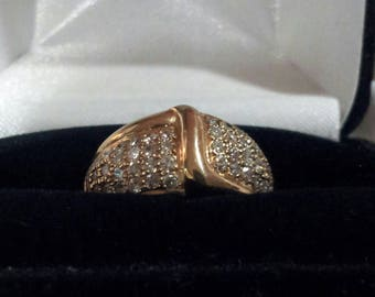 14K Gold and 1.0 ct tw Diamond Ring, Size 6 1/2