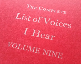 Voices - Large Funny Letterpress Notebooks, Jotters, Journals, Cahiers - A5 Moleskines