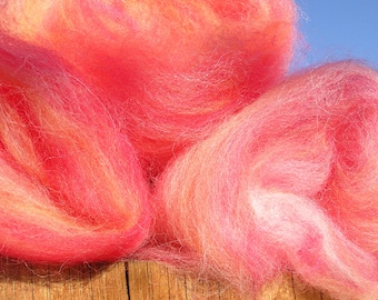 Spinning Fiber - Batt - Alpaca and Merino -Cotton Candy
